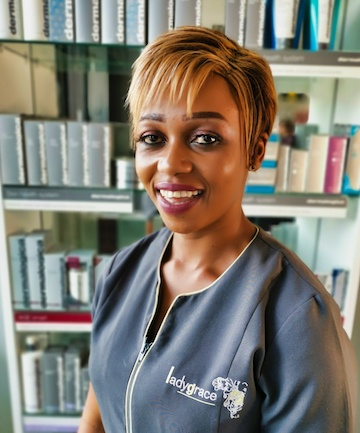 Charity at Lady Grace Nail and Skin Centre