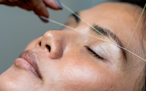 Eyebrow threading treatment at Lady Grace Nail and Skin Centre
